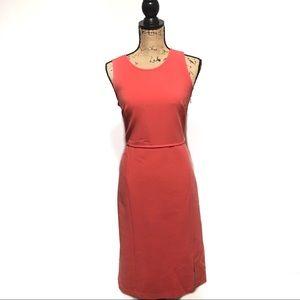 Ann Taylor Dress Pink Cut Out Size 6